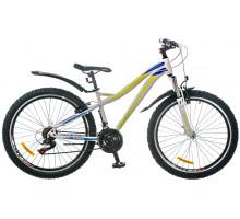 """Велосипед 26"""" Formula ELECTRA AM 14G Vbr рама-15"""" St бело-салатный с крылом Pl 2017"""