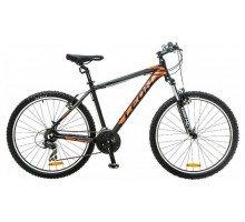 """Велосипед 26"""" Leon HT-85 AM 14G Vbr рама-20"""" Al черно-оранжевый 2017"""