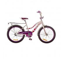 "Велосипед 20"" Formula FLOWER 14G рама-13"" St розовый с багажником зад St, с крылом St 2018"