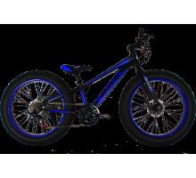 Фэтбайк (FatBike) велосипед Cross Tank 24″ (Black-Blue)
