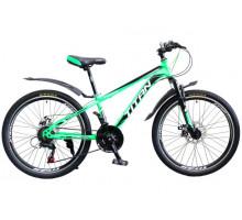 """Велосипед Titan Focus 24"""" 12"""" green-black-white"""