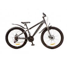 "Велосипед 26"" Formula DAKAR AM 14G DD рама-14"" St серый с белым (м) с крылом Pl 2018"