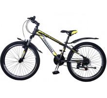 """Велосипед Cross Atlas 24"""" 12"""" black-yellow-white"""