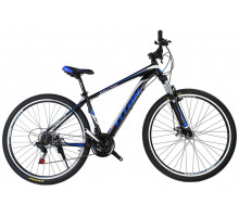 """Велосипед Titan Evolution 29""""17"""" Чёрный-Голубой-Серебро"""