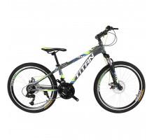 """Велосипед Titan Focus 24""""×12"""" (Gray/Green/White)"""