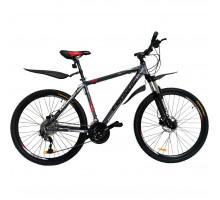 """Горный Велосипед Cronus Fantom 27.5"""" Gray-Red-Black (CRN-18-27-1)"""