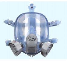 Маска лицевая обзорная с хим. фильтрами (трапеция) марки А (код 9900А) в силиконовой оправе (DR-0027)