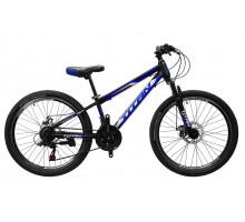 """Велосипед Titan Forest 24""""12"""" Чёрный-Голубой-Белый"""