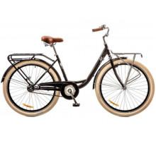 """Велосипед 26"""" Dorozhnik LUX 14G рама-17"""" St черный с багажн зад St,с крылом St,с багаж перSt 2018"""