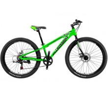 "Велосипед 26"" Blast Rigid Рама 13"" black-silvery-green"