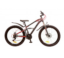 """Велосипед 26"""" Formula BLAZE AM2 14G DD рама-15"""" St серо-красный (м) с крылом Pl 2018"""