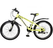 "Велосипед Cross Atlas 24"" 12"" lightgreen-black-white"