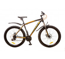 """Велосипед 26"""" Formula BLIZZARD AM 14G DD рама-19"""" St черно-оранжевый (м) с крылом Pl 2017"""