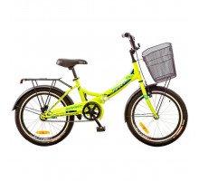 """Велосипед 20"""" Formula SMART 14G рама-13"""" St лайм  с багажником зад St, с крылом St, с корзиной St 2017"""
