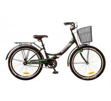 """Велосипед 24"""" Formula SMART 14G рама-15"""" St с корзиной 2017 черный/зеленый (OPS-FR-24-070)"""