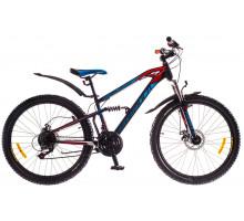 """Велосипед 26"""" Formula BLAZE AM2 14G DD St черно-красный с синим 2018"""