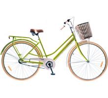 "Велосипед 28"" Dorozhnik COMFORT FEMALE 14G планет. St с багажн. салатный (м) 2018"