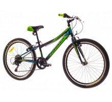 "Велосипед 24"" Formula COMPASS 14G Vbr рама-12"" St черно-зелен. 2018"